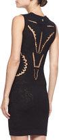 Roberto Cavalli Knit Cutout Sheath Dress, Black
