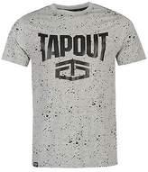Tapout Mens Splatter T Shirt Tee Top Crew Neck Short Sleeve Cotton Regular Fit