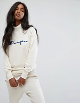 Champion High Neck Sweatshirt With Front Logo