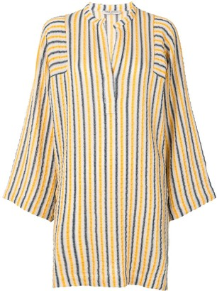 Three Graces Wide Sleeve Striped Kaftan
