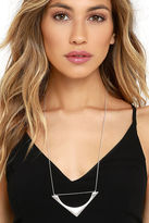 LuLu*s Give it a Triangle Gold Necklace