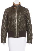 Bogner Quilted Leather Jacket