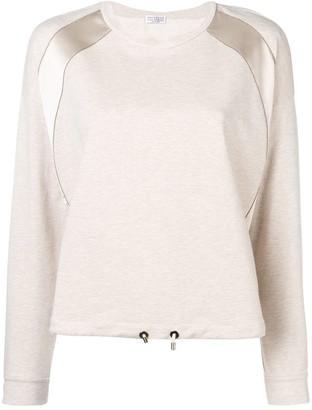 Brunello Cucinelli Satin Stripe Sweatshirt