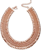 Thalia Sodi Rose Gold-Tone Wide Mesh Link Collar Necklace, Only at Macy's
