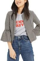 Topshop Women's Crop Gingham Jacket