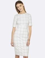Oxford Clara Check Ponti Dress