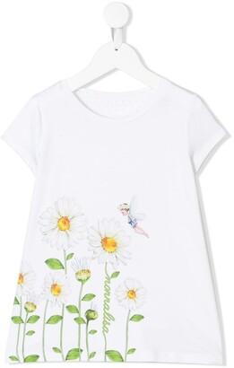 MonnaLisa floral short-sleeve T-shirt