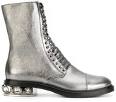 Casadei crystal-embellished City Rock boots - women - Leather/Nappa Leather/Calf Suede - 37