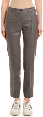 Agnona Flannel Wool Tapered Classic Pants