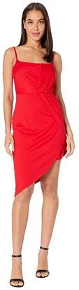 Susana Monaco Thin Strap Side Twist Dress (Perfect Red) Women's Dress