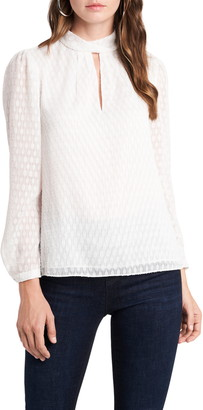 1 STATE Keyhole Blouse