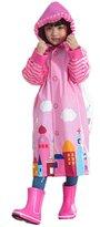 Meiruian Kids Cute Funny Raincoat Waterproof Lightweight Boys Girls Rain Jacket