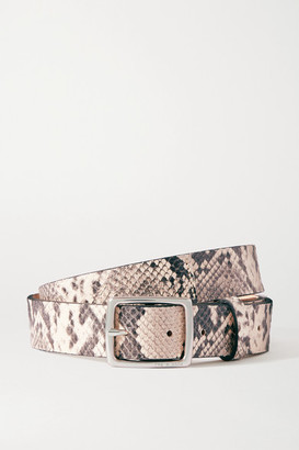 Rag & Bone Boyfriend Snake-effect Leather Belt - Snake print