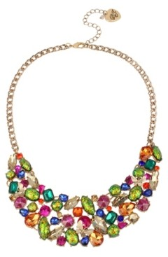 Betsey Johnson Stone Cluster Statement Necklace
