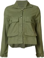The Great cropped jacket - women - Tencel/Polyurethane/Linen/Flax/Cotton - 0