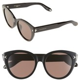 Givenchy Women's 54Mm Round Sunglasses - Black/ Brown