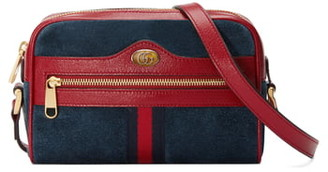 Gucci Small Ophidia Suede & Leather Crossbody Bag