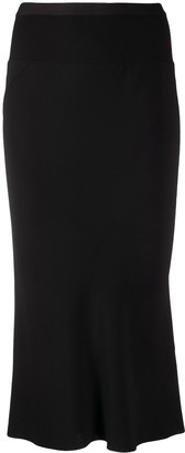 Rick Owens High-Waisted Fine Knit Skirt