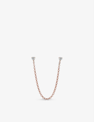 Roxanne First The Laura rose-gold and diamond ear chain