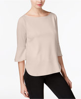 Bar III Textured Bell-Sleeve Top, Created for Macy's