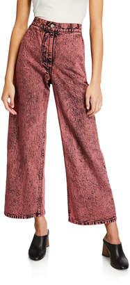 Rachel Comey Bishop Acid-Washed Flare Jeans