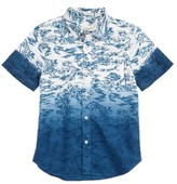 Boy's Tucker + Tate Dip Dye Woven Shirt