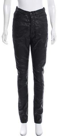 Rick Owens Coated Mid-Rise Jeans w/ Tags