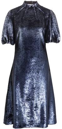 Emilia Wickstead Amara Cutout Sequined Tulle Dress