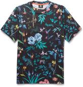 Paul Smith Floral-print Cotton-jersey T-shirt - Black