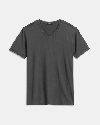 Theory V-Neck Tee in Silk-Cotton