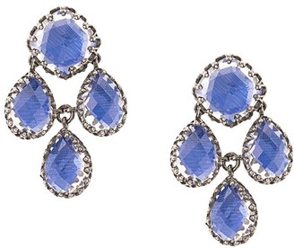 Larkspur & Hawk Antoinette Girandole Cobalt earrings