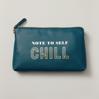 Indigo NOTE TO SELF CHILL POUCHETTE DARK GREEN