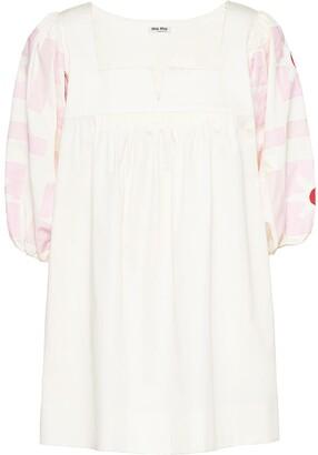 Miu Miu Geometric Print Dress