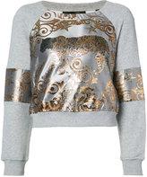 Philipp Plein Aconito tiger jacquard sweatshirt - women - Cotton/Polyester - M