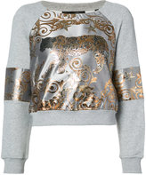 Philipp Plein Aconito tiger jacquard sweatshirt - women - Cotton/Polyester - S