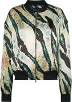 Baja East printed bomber jacket - women - Silk - 0