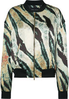 Baja East printed bomber jacket - women - Silk - 1