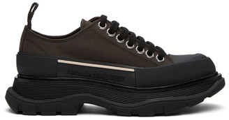 Alexander McQueen Brown Tread Slick Platform Sneakers