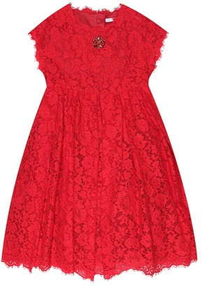 Dolce & Gabbana Embellished lace dress