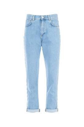 Moschino Cropped Boyfriend Jeans