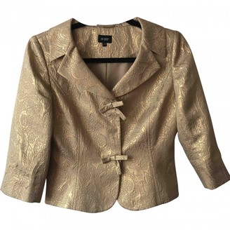 Hobbs Gold Silk Jacket for Women