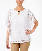 JM Collection Burnout Poncho Top, Only at Macy's