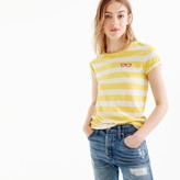 J.Crew Striped embroidered sunglasses T-shirt
