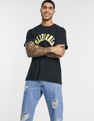 New Look oversized California t-shirt in black