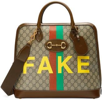 Gucci Horsebit 1955 'Fake/Not' tote bag