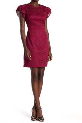 trina Trina Turk Mai Tai Lace Sheath Dress