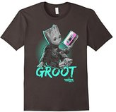 Marvel Groot Guardians of Galaxy 2 Mix Tape Graphic T-Shirt