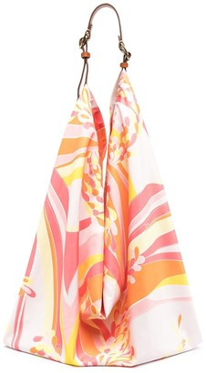 Emilio Pucci Abstract-Print Shoulder Bag