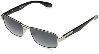 Southpole Men's 5022sp Slvbk Non-polarized Iridium Rectangular Sunglasses
