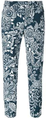 Fay cropped floral trousers